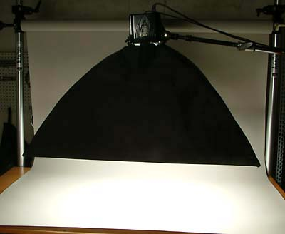 Softbox Diffuser Aimed Down